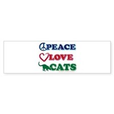 Peace Love Cats Bumper Sticker