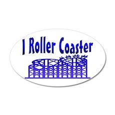 I Roller Coaster 20x12 Oval Wall Peel
