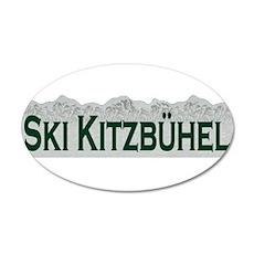Ski Kitzbuhel, Austria 20x12 Oval Wall Peel