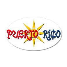 Puerto Rico 20x12 Oval Wall Peel