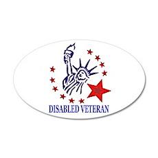 Disabled Veteran 20x12 Oval Wall Peel