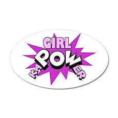 Girl kaPOWer! 20x12 Oval Wall Peel