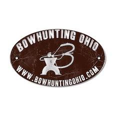 Bowhunting Ohio 20x12 Oval Wall Peel