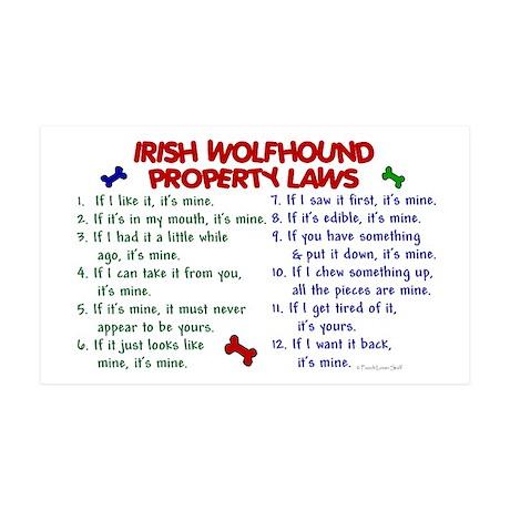 Irish Wolfhound Property Laws 2 Sticker (Rectangul