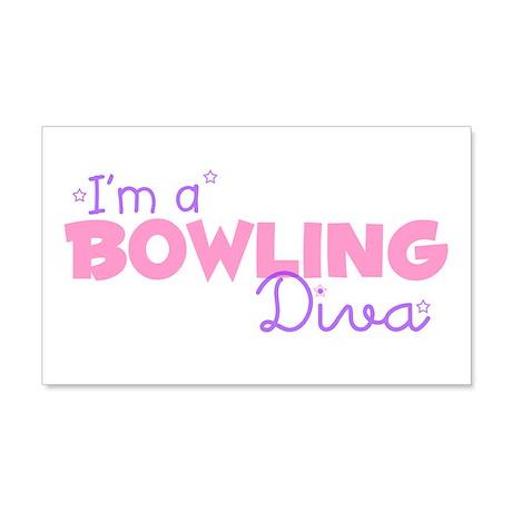 I'm a Bowling diva 20x12 Wall Peel