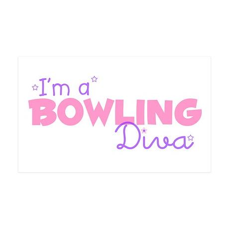 I'm a Bowling diva 35x21 Wall Peel