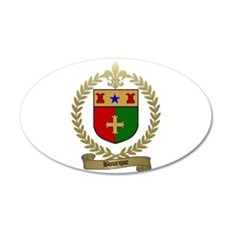 BOURQUE Family Crest 20x12 Oval Wall Peel