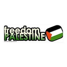 FREEDOM PALESTINE 36x11 Wall Peel