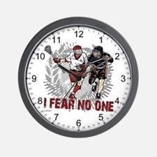 Lacrosse I Fear No One Wall Clock