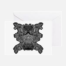 Black & White Skull Greeting Card