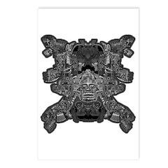 Black & White Skull Postcards (Package of 8)