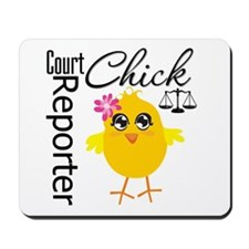 Court Reporter Chick Mousepad