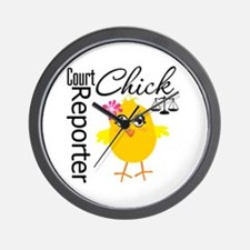 Court Reporter Chick Wall Clock