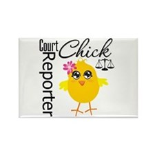 Court Reporter Chick Rectangle Magnet