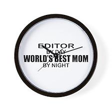 World's Best Mom - Editor Wall Clock