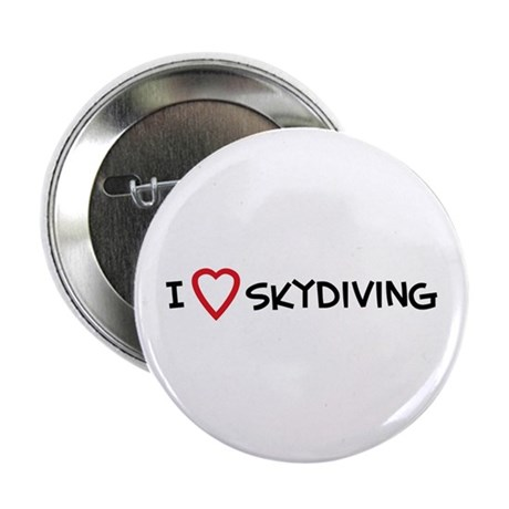 I Love Skydiving Button