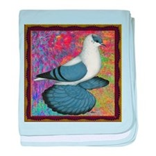 Swallow Pigeon Framed baby blanket