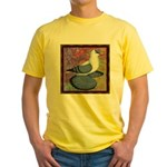 Swallow Pigeon Framed Yellow T-Shirt