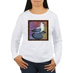 Swallow Pigeon Framed Women's Long Sleeve T-Shirt