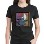 Swallow Pigeon Framed Women's Dark T-Shirt