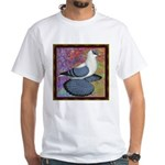 Swallow Pigeon Framed White T-Shirt