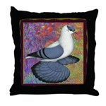 Swallow Pigeon Framed Throw Pillow