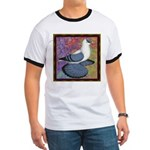 Swallow Pigeon Framed Ringer T