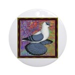 Swallow Pigeon Framed Ornament (Round)