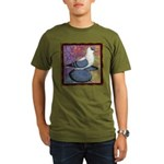Swallow Pigeon Framed Organic Men's T-Shirt (dark)