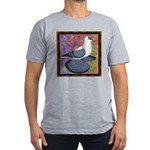Swallow Pigeon Framed Men's Fitted T-Shirt (dark)