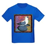 Swallow Pigeon Framed Kids Dark T-Shirt