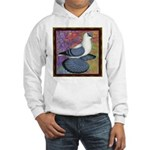 Swallow Pigeon Framed Hooded Sweatshirt