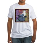 Swallow Pigeon Framed Fitted T-Shirt