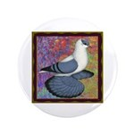 "Swallow Pigeon Framed 3.5"" Button (100 pack)"
