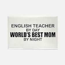 World's Best Mom - ENGLISH TEACHER Rectangle Magne