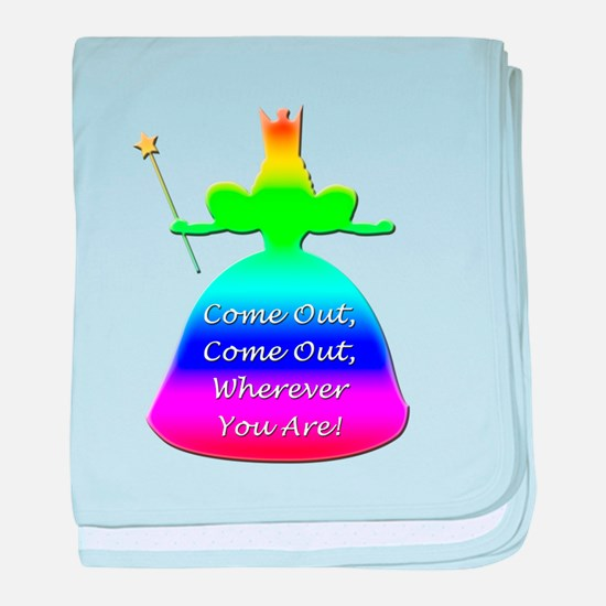 """GLBT """"Come Out"""" - baby blanket"""