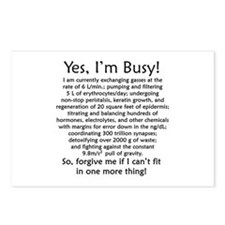 Yes, I'm Busy! Postcards (Package of 8)