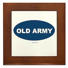 Old Army Dad Framed Tile