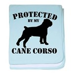 Protected by my Cane Corso baby blanket