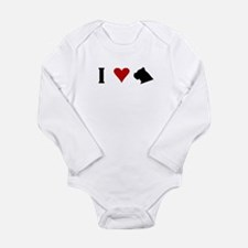I Heart Cane Corso Long Sleeve Infant Bodysuit