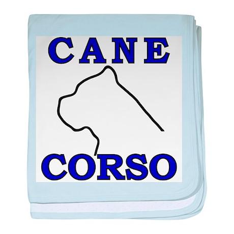 Cane Corso Logo Blue baby blanket