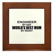 World's Best Mom - ENGINEER Framed Tile