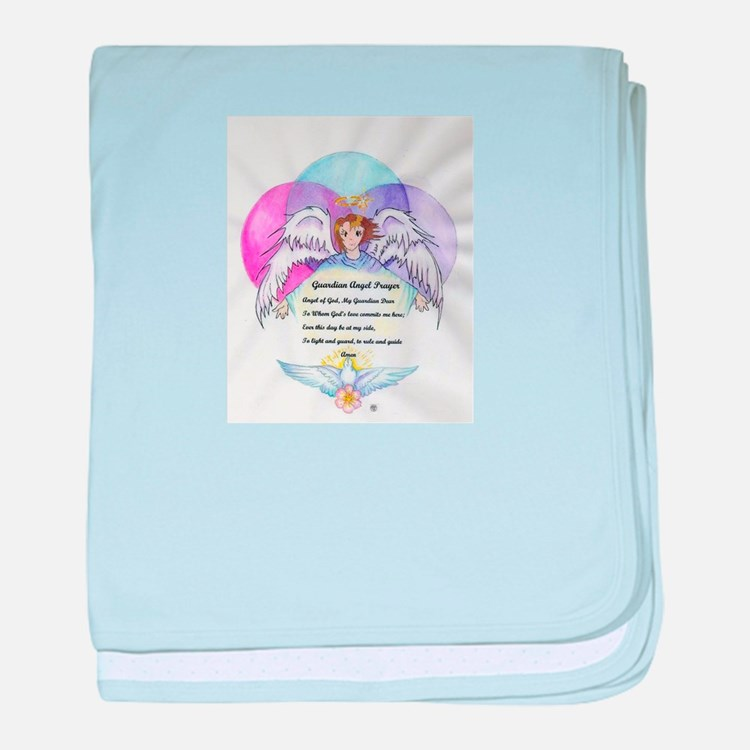 Guardian Angel Prayer baby blanket