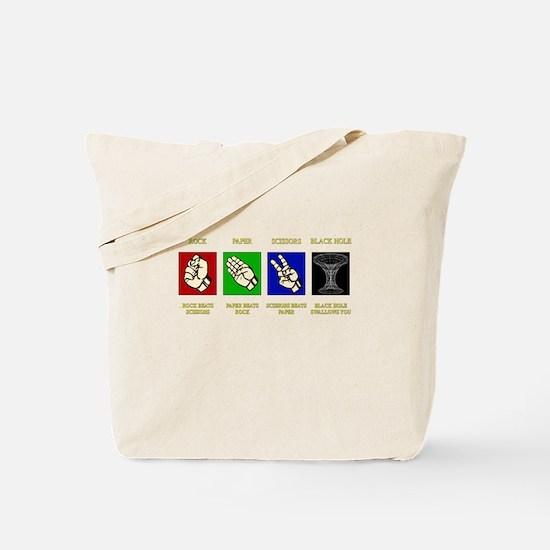 ROCK-PAPER-SCISSORS-BLACK HOLE Tote Bag