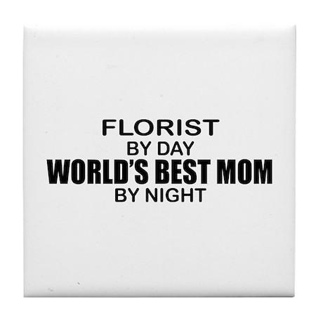 World's Best Mom - FLORIST Tile Coaster