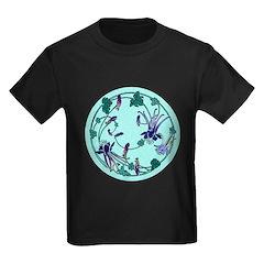 Floral Circle Kids Dark T-Shirt