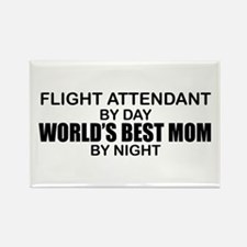 World's Best Mom - FLIGHT ATTENDANT Rectangle Magn