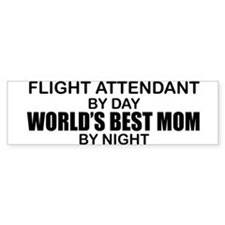 World's Best Mom - FLIGHT ATTENDANT Bumper Sticker