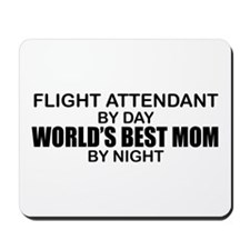 World's Best Mom - FLIGHT ATTENDANT Mousepad