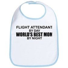 World's Best Mom - FLIGHT ATTENDANT Bib